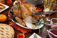 Découpage du poivre Turquie pour le thanksgiving image stock