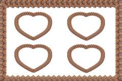 Découpage en bois de coeur Image stock