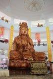 Découpage en bois de Guan Im Photos stock