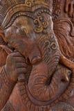 Découpage en bois du ganesha de seigneur Images libres de droits