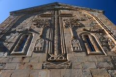 Découpage en pierre. Église d'Ananuri. La Géorgie Photographie stock