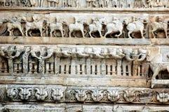 Découpage en pierre au temple de Jagdish, Udaipur Photos stock