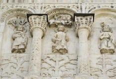Découpage en pierre. Cathédrale de rue Demetrius (1193-1197) Image stock