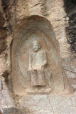 Découpage en pierre de Bouddha Photos libres de droits