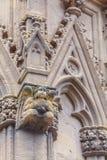 Découpage en pierre de la cathédrale Sainte-Marie De Bayonne Photographie stock libre de droits