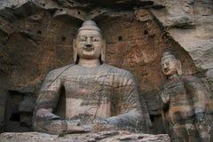 Découpage en pierre des grottes 101 de Yungang Photographie stock libre de droits