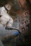 Découpage en pierre des grottes 61 de Yungang Photographie stock libre de droits