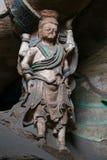 Découpage en pierre des grottes 62 de Yungang Photo libre de droits