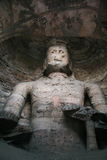Découpage en pierre des grottes 91 de Yungang Images stock