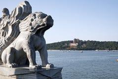 Découpage en pierre en palais d'été. Photographie stock libre de droits