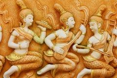 Découpage en pierre, Thaïlande. Images libres de droits