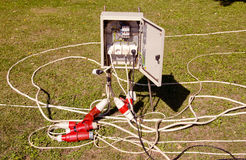 Découpage et fils électriques. Photographie stock