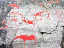Découpage préhistorique de pierre Image libre de droits