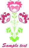 Découpage rose Image libre de droits