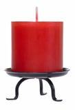 Découpage rouge de bougie Images stock