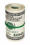 Découpage roulé d'argent Photographie stock