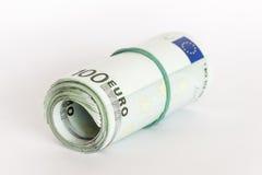 Découpage roulé d'argent Image stock