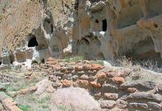 D?coupages architecturaux antiques de roche de Bandelier photos libres de droits