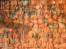 Découpages Bouddha de mur photos stock