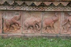 Découpages chez Sompur Mahavihara Photo stock