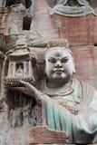 Découpages de roche de montagne de tintement de Dazu Bao Images stock