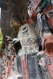 Découpages de roche de montagne de tintement de Dazu Bao Photo libre de droits