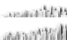 Découpages de ville illustration libre de droits