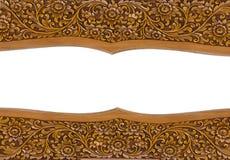 Découpages du bois faits main de modèle thaïlandais Image libre de droits