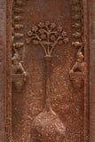 Découpages en pierre sur le mur du tombeau d'Akbar, Inde Images libres de droits
