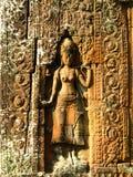 Découpages en pierre - wat d'angkor Photos stock
