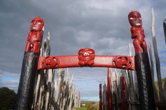 Découpages maoris antiques 6 du Nouvelle-Zélande Photo libre de droits