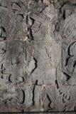 Découpages maya antiques de mur Photographie stock libre de droits
