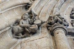 Découpant en Lonja de la Seda l'échange en soie, Valence, Espagne Images libres de droits