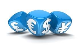 Découpe avec des devises (le chemin de coupure inclus) Image stock
