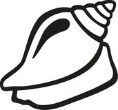 Découpe d'escargot de Shell illustration de vecteur