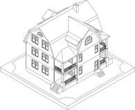 Découpe de maison isométrique Photographie stock