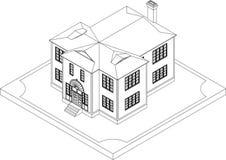 Découpe de maison isométrique Photo libre de droits