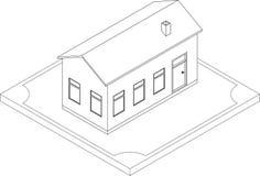 Découpe de maison isométrique Photographie stock libre de droits