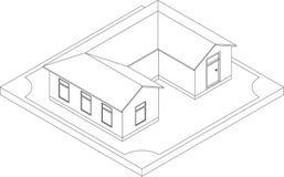 Découpe de maison isométrique Photos libres de droits