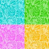 Découpes colorées multi illustration stock