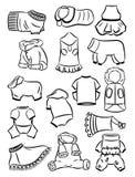 Découpes des vêtements pour des chiens Images libres de droits