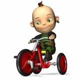Découpeur 1 de tricycle de chéri illustration stock