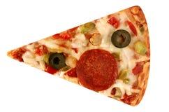 Découpez la pizza de part d'isolement Photo libre de droits