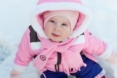 Découverte de la première neige Image stock