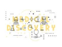 Découverte médicale de concept de médecine illustration stock