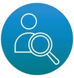 Découverte Person Isolated Vector avec la ligne et l'icône de suffisance illustration de vecteur