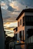 Découvertes de coucher du soleil Photo libre de droits