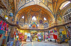 Découvrez le bazar grand de Téhéran photographie stock