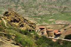 Découvrez le davier Gareja un du plus grand complexe de monastère en Géorgie images libres de droits