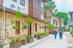 Découvrez le secteur de Kaleici à Antalya photos libres de droits